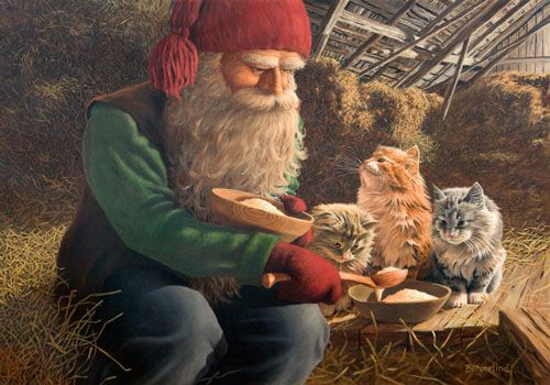"""Jan Bergerlinds (""""Tomtar with Cats"""")"""