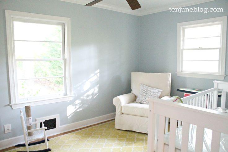 Best Sherwin Williams Sleepy Blue Boy Room Paint Nursery 400 x 300