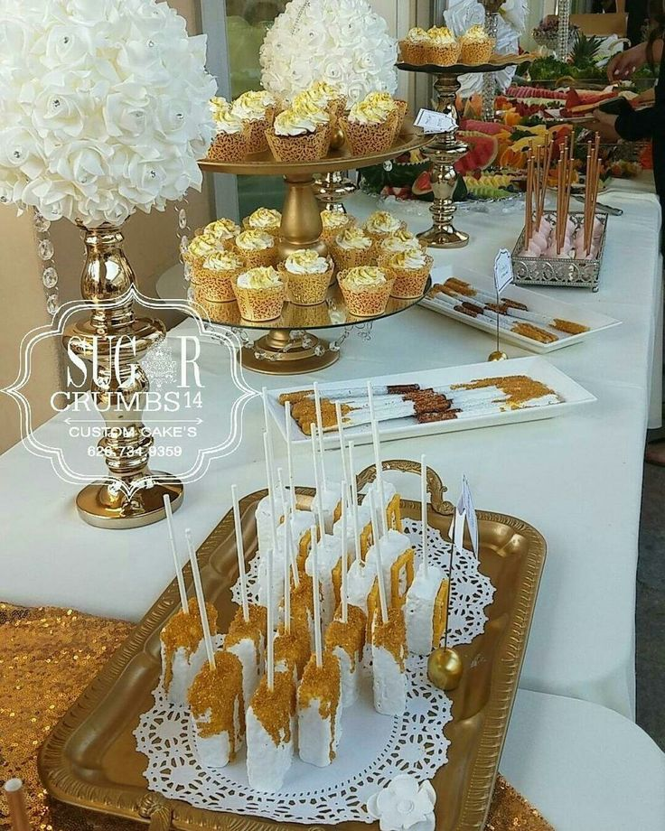 Gold table setup for wedding or quinceanera #sugarcrumbs14