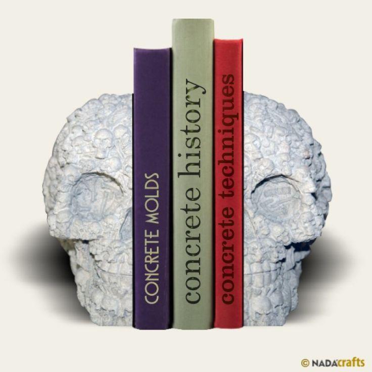 Kafatası Kitapsonu, NadaCrafts.com | Concrete Ürünler