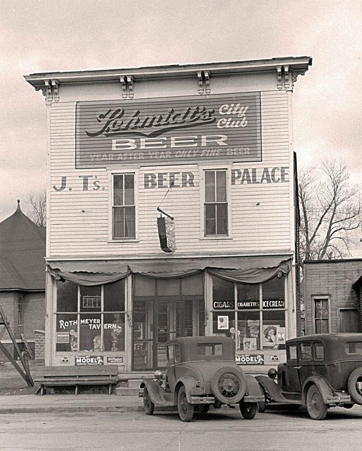 """1939 Scranton, Iowa, Old Photo, SALOON, Pub, Schmidts BEER, antique, 20""""x16"""""""