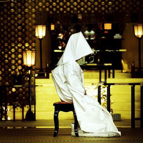 """""""shiro-muku""""=white kimono、 Japanese bride of Shinto wedding  wedding kimono"""
