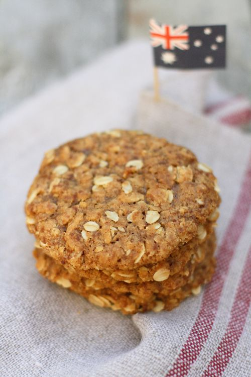 Gluten-free Anzac Cookies- yummy- I cooked them a lot longer (I will turn the heat up next time) as I like them crispy on the outside and soft in the middle.  Great recipe and egg free and