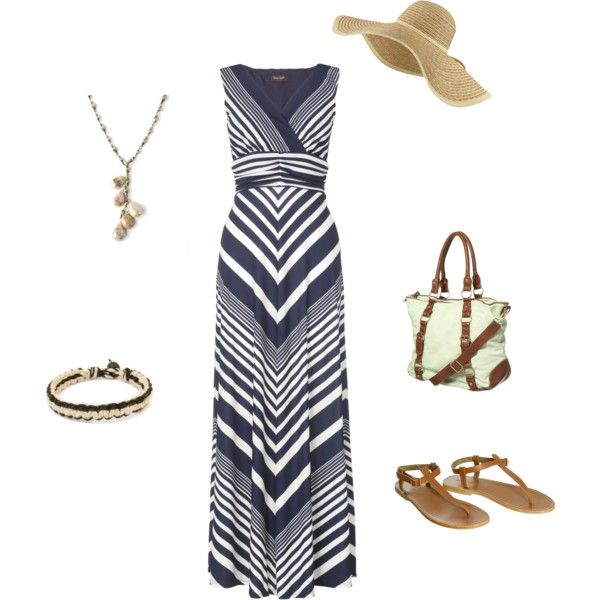 Cute beachy outfit; click on dress for multiple styles and looks
