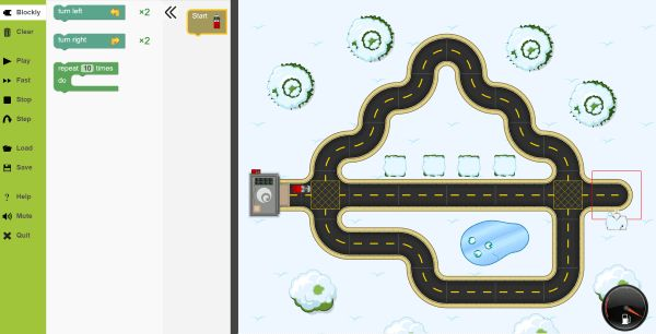 A superb road themed coding site which teaches with blocks of code which evolves to Python. Learners must make cars travel to the right places and perform tasks. There are over 100 levels to try. Most exciting, there is a level creator so teacher and/or pupils can build their own levels.