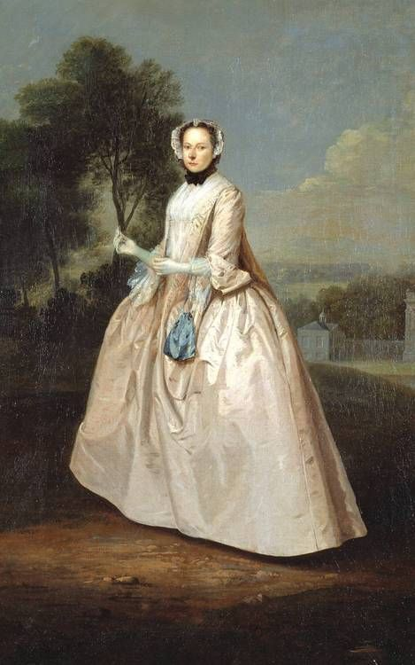 Arthur Devis  Portrait of a Lady  c.1750-1, oil on canvas, The California Palace of the Legion of Honor ,San Francisco