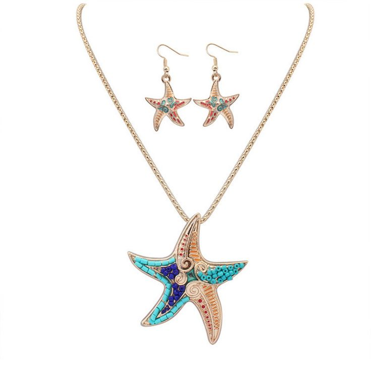 Find More Jewelry Sets Information about SNASAN Enamel Naughty starfish animail Jewelry Set silver statement Necklace Earings eardrop Set For Women Gothic style,High Quality jewelry set silver,China set for women Suppliers, Cheap style set from SNASAN Retail Store on Aliexpress.com