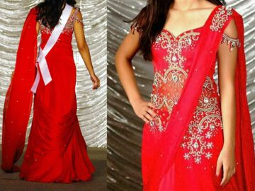 Items For Sale: NAMRATA PATIL PAGEANT/EVENING GOWN. Sari-inspired. AB. $2K http://ift.tt/1T2736Z