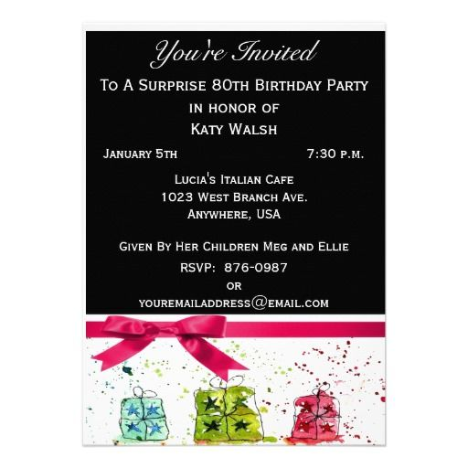16 best surprise 80th birthday party invitations images on pinterest surprise 80th birthday party invitation stopboris Image collections