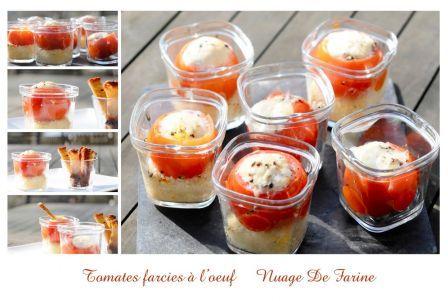 Cuscus con tomatitos rellenos de huevos