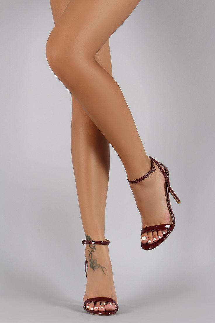 Wild Diva Lounge Criss Cross Ankle Strap Open Toe Heel
