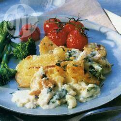 Smoked haddock and potato pie