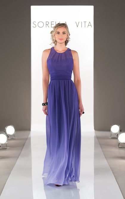 Ombre Bridesmaid Dress from Sorella Vita Style 8459 available at Carrie Karibo Bridal #carriekaribobridal