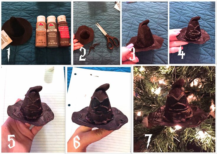 Easy As DIY: DIY Harry Potter Ornament Series Part 4: Winged Key, Quill, Sorting Hat, Nagini, Scabbers, Sir Cadogan