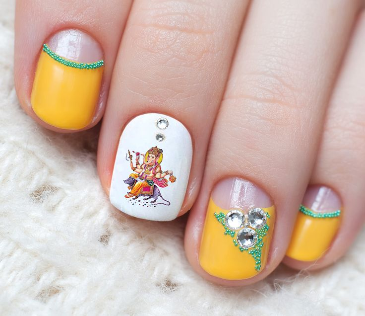17 Best Ideas About Indian Nail Art On Pinterest