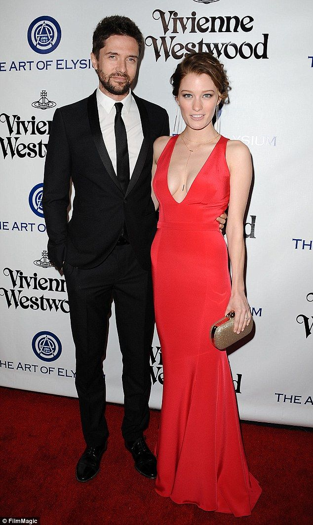 Tying the knot: Actors Topher Grace, 37, and Ashley Hinshaw, 27, are set to wed this weekend in Santa Barbara, California
