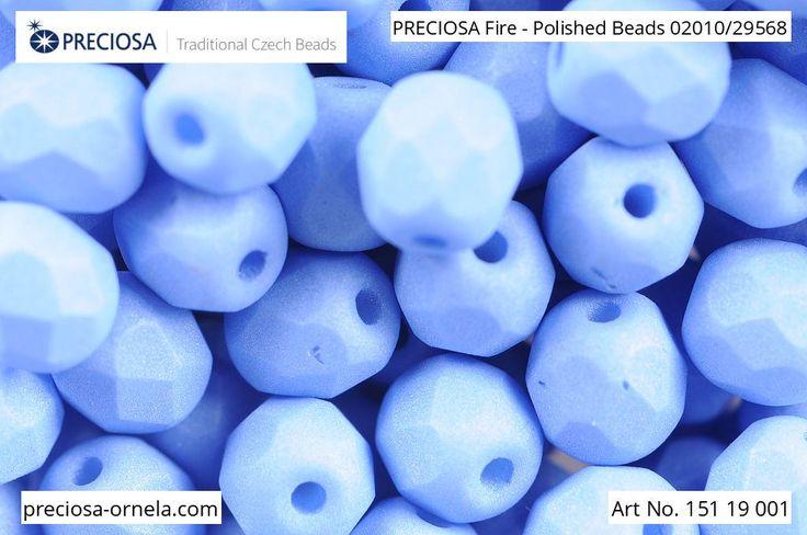 PRECIOSA Fire-Polished Beads - 151 19 001 - 02010/29568 - Periwinkle | by PRECIOSA ORNELA