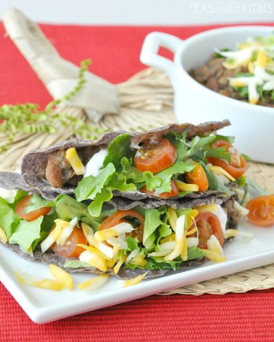 By far the best tacos of my life -- Lentil-Veggie Tacos #vegetarian #vegan #gluten-free