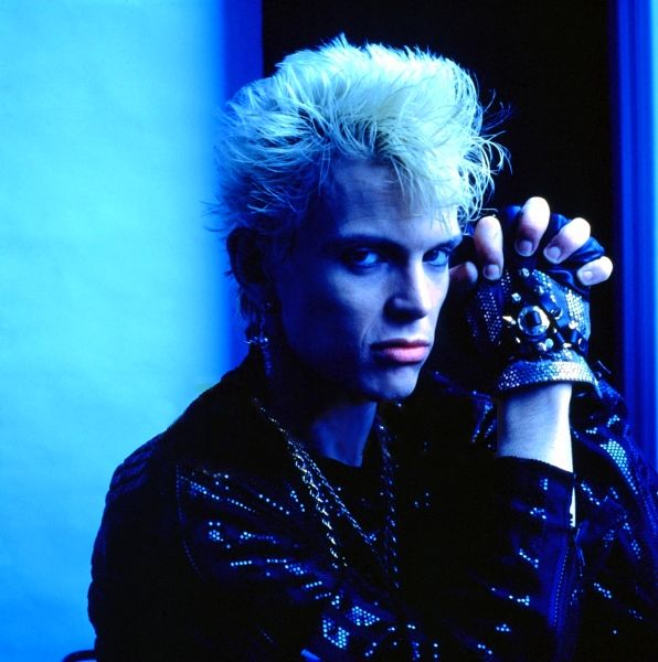 Billy Idol photographed in the mid 1980′s by Richard Croft.