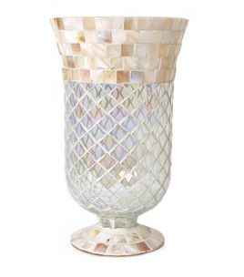 Home Inspirations Mother of Pearl Mosaic Footed Hurricane : candles : home decor :  Shop | Joann.com