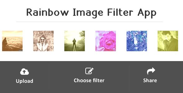 Rainbow - Image Filter Web Application on @codegrape. More Info:…