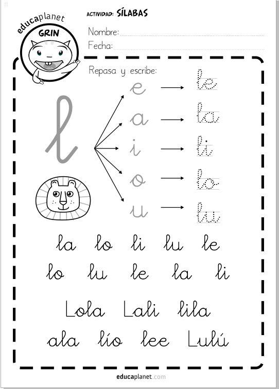 29 fichas como tarea individual de refuerzo de silabas directas #silabas #lectoescritura #infantil #repaso Un complemento ideal a LEO CON GRIN.