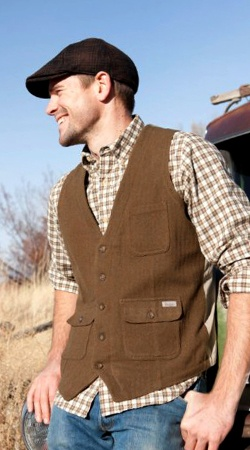 Great for Fall - Woolrich Ruxton Vest, Halifax Shirt, and Wool Irish Cap. #woolrichfall