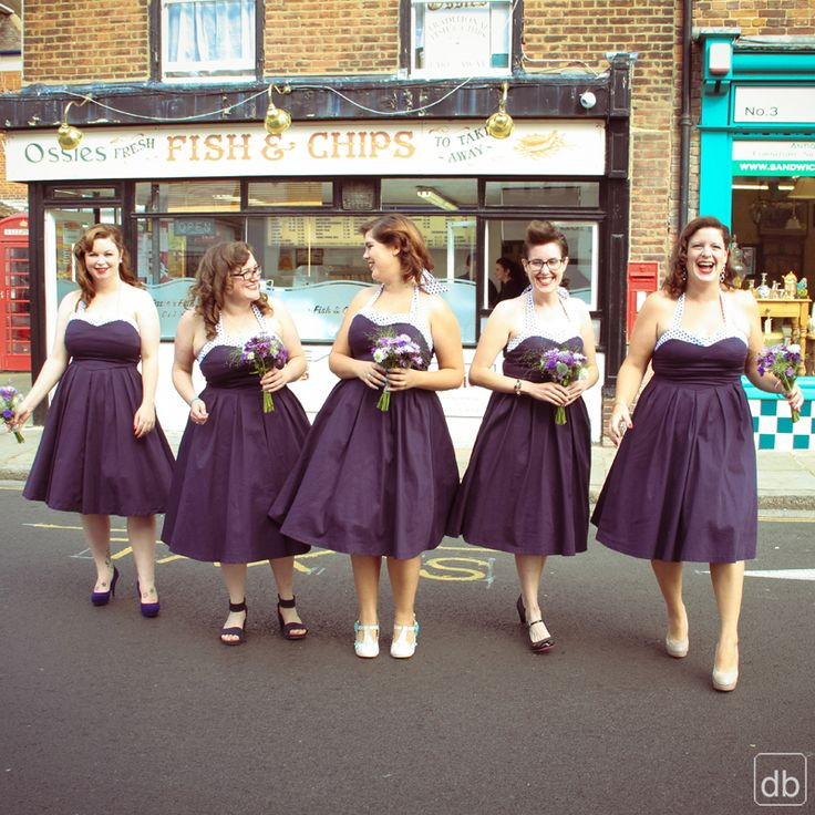 Matching Vintage Bridesmaid Dresses