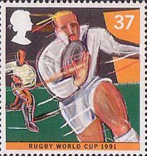 World Student Games, Sheffield and World Cup Rugby Championship, London 37p Stamp (1991) Rugby