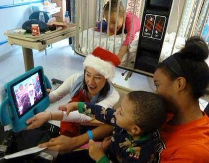 Santa Visits Children's Hospitals Across North America using Cisco Video Technology #ehealth