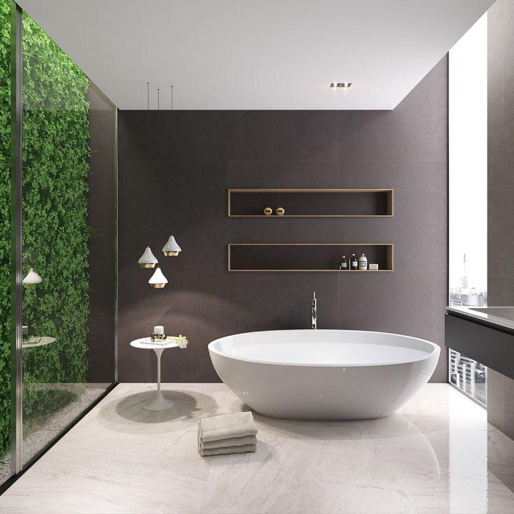 36 id es salles de bains avec baignoire de luxe bathroom bathroom modern bathroom et. Black Bedroom Furniture Sets. Home Design Ideas