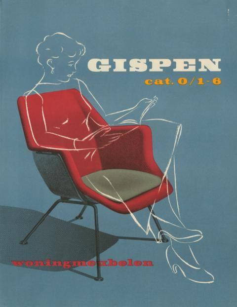 Omslag Gispen catalogus 0/ 1-6 Woonmeubelen