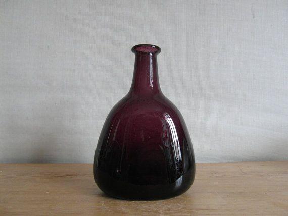 Hadeland Norway - Art Glass vase - bottle vase - Willy Johansson - 1960s on Etsy, $127.18