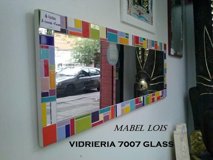 espejo realizado con azulejos