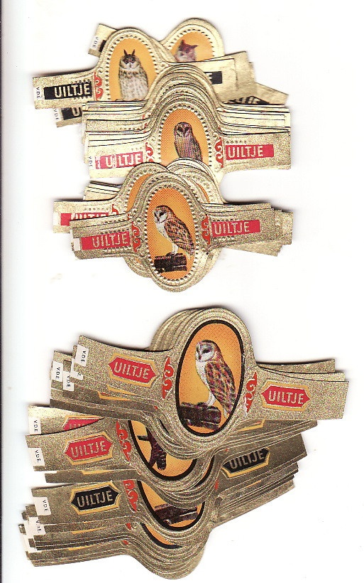 a set of 60 cigar band set from 1962 with owls #owls #cigarbands