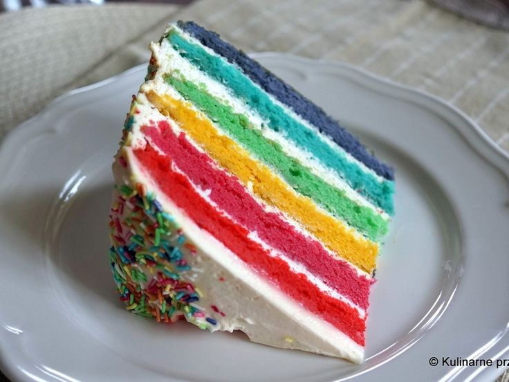 Tęczowy tort (rainbow cake)