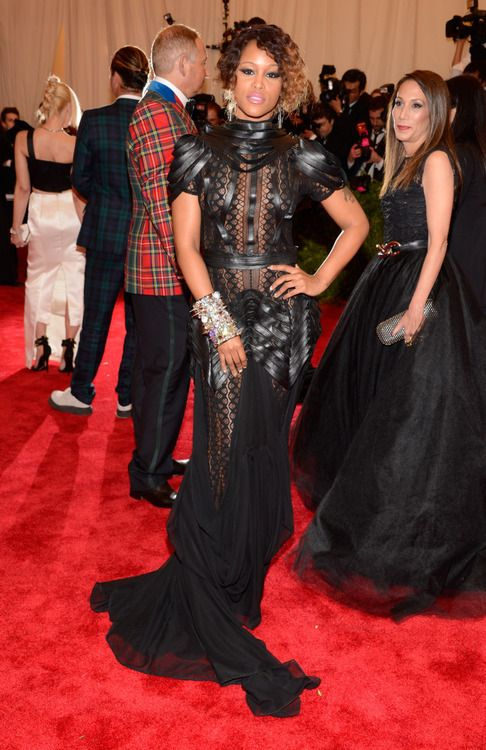 Rapper Eve killing it in D Auxilly at 2013 Met Costume Gala #fashionoscars #redcarpet #punk #couture #chaos