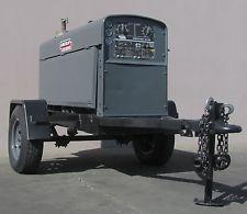 Lincoln Shield Arc SA-250 Welder Trailer 250 Amp Perkins Diesel Engine generator