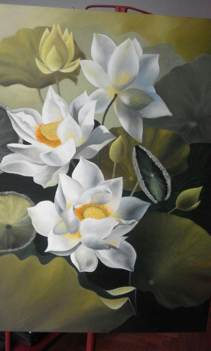 Blanca frescura obra en óleo 60×80