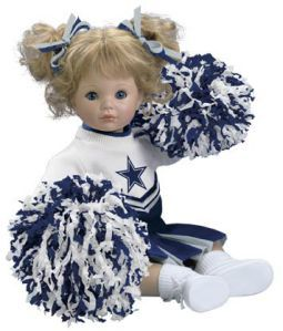 Dallas Cowboy Cheerleader Doll | And just for fun, here are some Cowboys cheerleader dolls and teddy ...