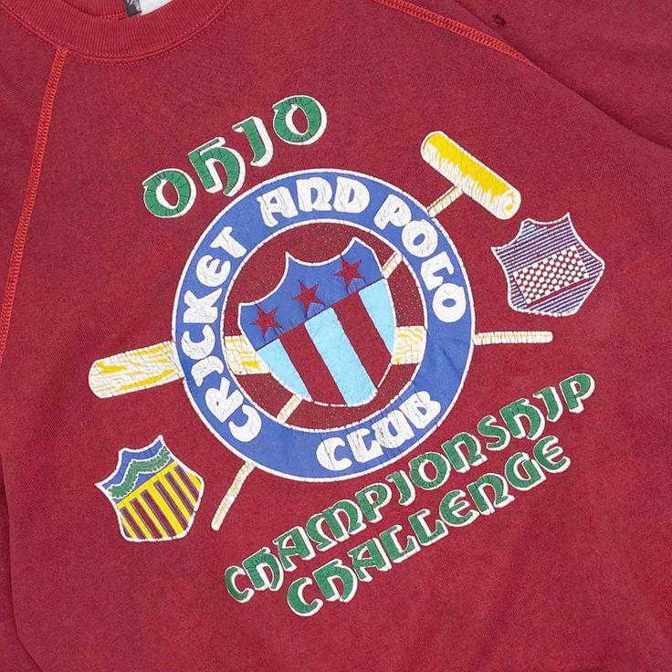 Vintage 80's Ohio Polo Club Championship Crewneck ...