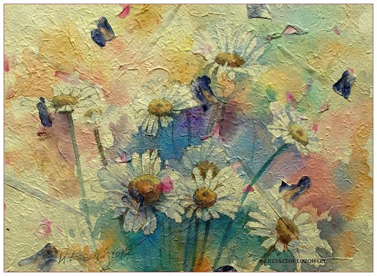 Meadows, watercolours on hand-made paper from Thailand