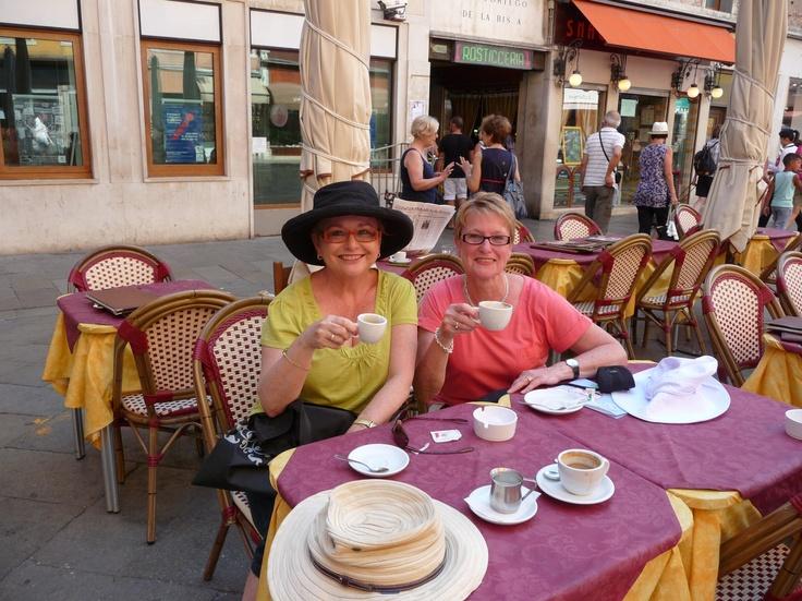 Club Tour European Summer 2011 - Enjoying coffee Venice