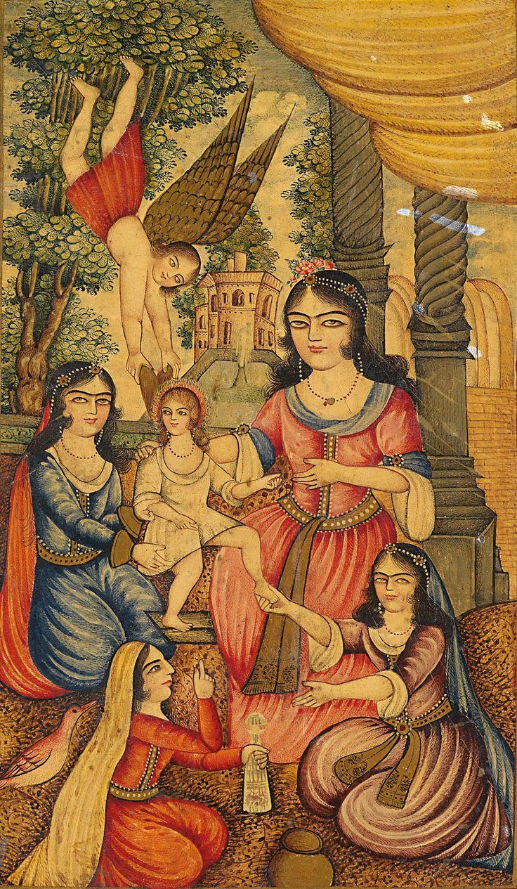 Qajar dynasty paintings 19th C
