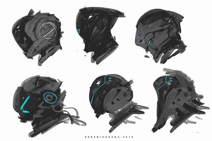 Scifi Full Helmet Designs 001 by benedickbana.deviantart.com on @DeviantArt