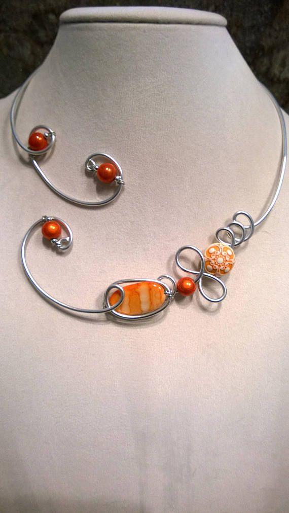 Design jewelry Design nekclace Orange necklace Open