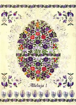 folk art pland | Polish Art Center - Polish Folk Easter Card - Floral Pisanka