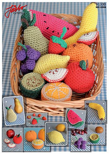 Crochet Fruit By Maja Karlsson - Free Crochet Pattern - Pattern In Swedish Only - (ravelry)