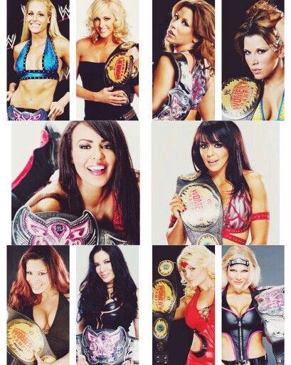 Michelle McCool Mickie James Layla Melina & Beth Phoenix all have been Women & Divas Champion
