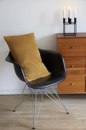 StrikAholic - Weave Knit yellow dames - charles eames - dames chair - by lassen - kubus